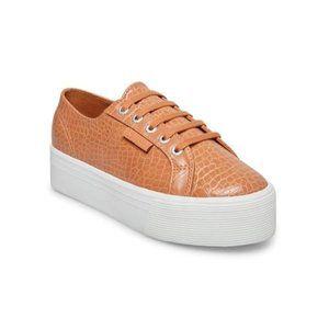 Superga 2790 Faux Crocodile TL Tan Croco Sneaker 8 39